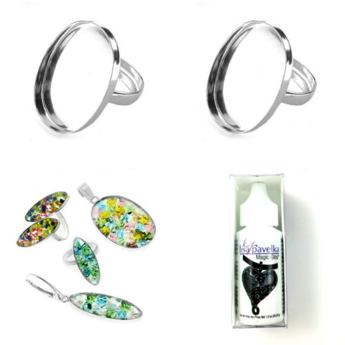 Sterling Silver Adjustable Ring Base Blank For Maric Glos or Glue on Gemstone