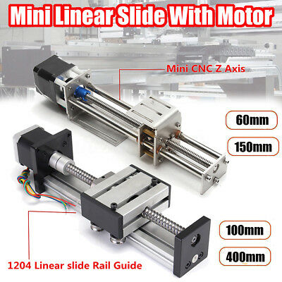 Ball Screw Linear Cnc Slide Stroke 60mm-400mm Long Stage Actuator Stepper Motor