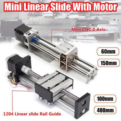 Ball Screw Linear Cnc Slide Stroke 60mm-400mm Long Stage Actuator Stepper Motor