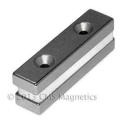 Cms Magnetics N42 Neodymium Bar Magnet 2x 12x14 W2 Countersunk Holes 4-pc