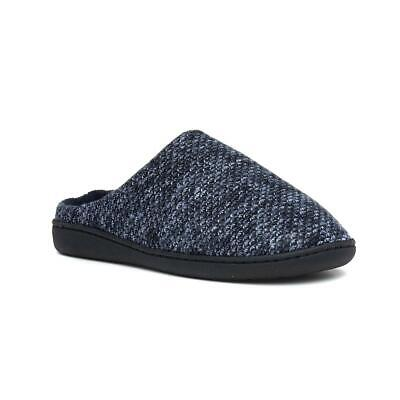 The Slipepr Company Mens Blue Marl Mule Slippers with Flat Sole