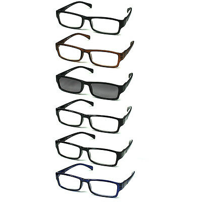 6-pack Spring Hinges Reading Glasses Unisex (5+1 Sunglasses (Glasses China)