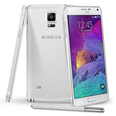 Samsung Galaxy Note 4 N910F 32GB GSM 3G 4G LTE 16MP Unlocked Smart Phone (White)