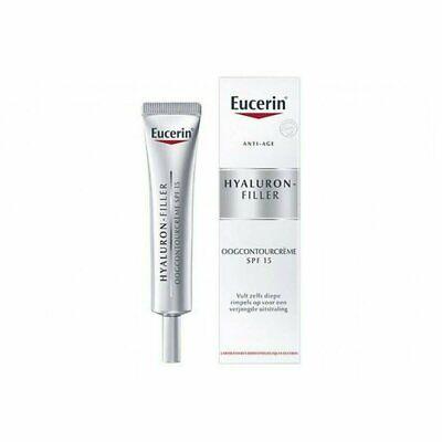 Eucerin Hyaluron-Filler Eye Cream SPF15 + UVA Anti-Aging Moisturizer USA SELLER