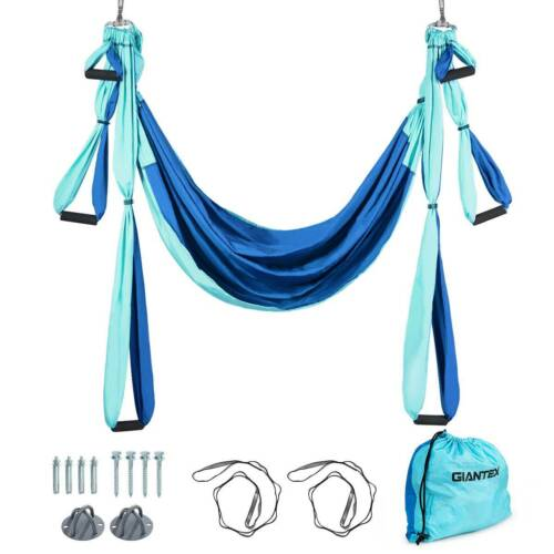 Aerial Yoga Hammock Swing Trapeze Inversion Pilates Sling Anti-Gravity Exercise