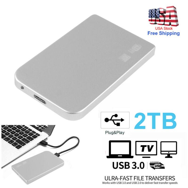 "Portable USB 3.0 2TB 2.5"" External Hard Drive Disk Ultra Slim For PC Laptop DTD"