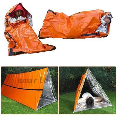 Heavy Duty Emergency Solar Thermal Sleeping Bag Survival Disaster Camping