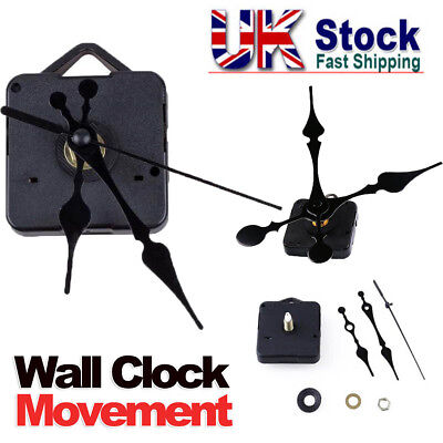Quartz Clock Mechanism Movement DIY Repair Parts Kit Motor Hands Black UKSTOCK G