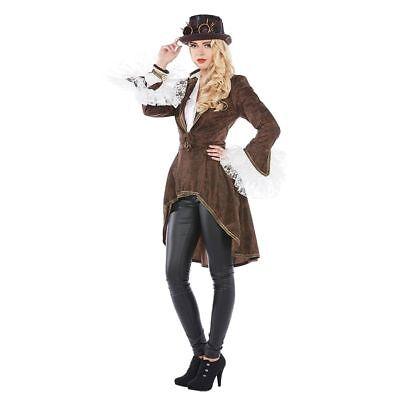 Mot - Damen Kostüm Steampunk Western Mantel Karneval Fasching
