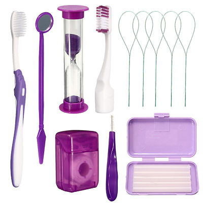 Dental Care Toothbrush Kit Orthodontic Teeth Oral Cleaning Tools 8 Pcspack