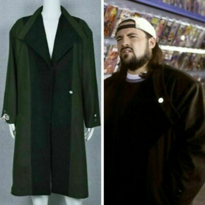 Silent Bob Costume (Jay and Silent Bob Strike Back Cosplay Costume Trench Coat Outfit Long)