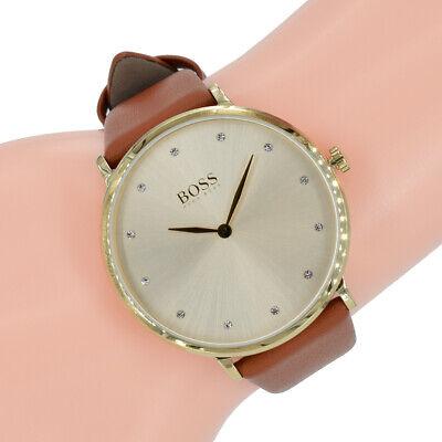 Hugo Boss Damenuhr 1502411 Jillian gold Farbe Braun Leder Armbanduhr