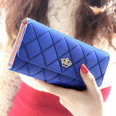 Women Fashion Bifold Wallet Leather Clutch Card Holder Purse Lady Long Handbag