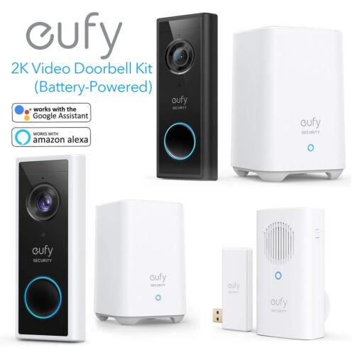 eufy Wireless Video Doorbell Kit 2K WDR Security Camera Smart Door Ring Intercom