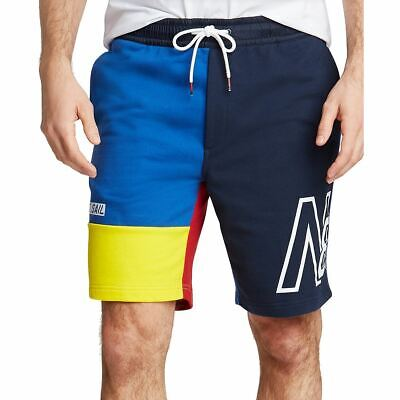 NAUTICA NEW Men's Multicolor Blue Sail French Terry Big & Tall Shorts 4XLT TEDO