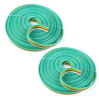 2-pack 4 Way 14 Ga Awg 50 Feet Flat Bonded Trailer Lights Wire Boat Rv Car