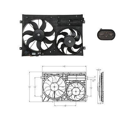 Dual Rad & Cond Fan Assembly Fits: Audi A3 Quattro A3 TT Quattro TT See chart