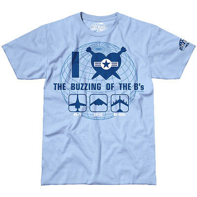 7.62 Design Ronzio Dei B's Militare Degli Uomini T-Shirt Casual Tee Top Sky Blue