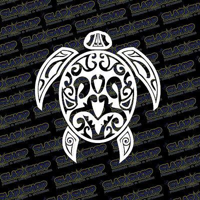 Tribal Sea Turtle Vinyl Sticker Decal Design Ocean Hawaiian Hawaii Car Truck 5