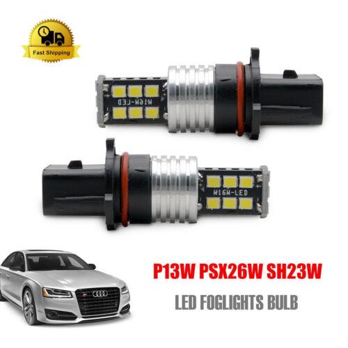 2x p13w psx26w sh23w led ampoule anti brouillard lumière de jour drl audi a4 b8