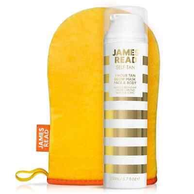 James Read The Glow 1 Hour Face & Body Tan & Mitt - Natural Golden Tan