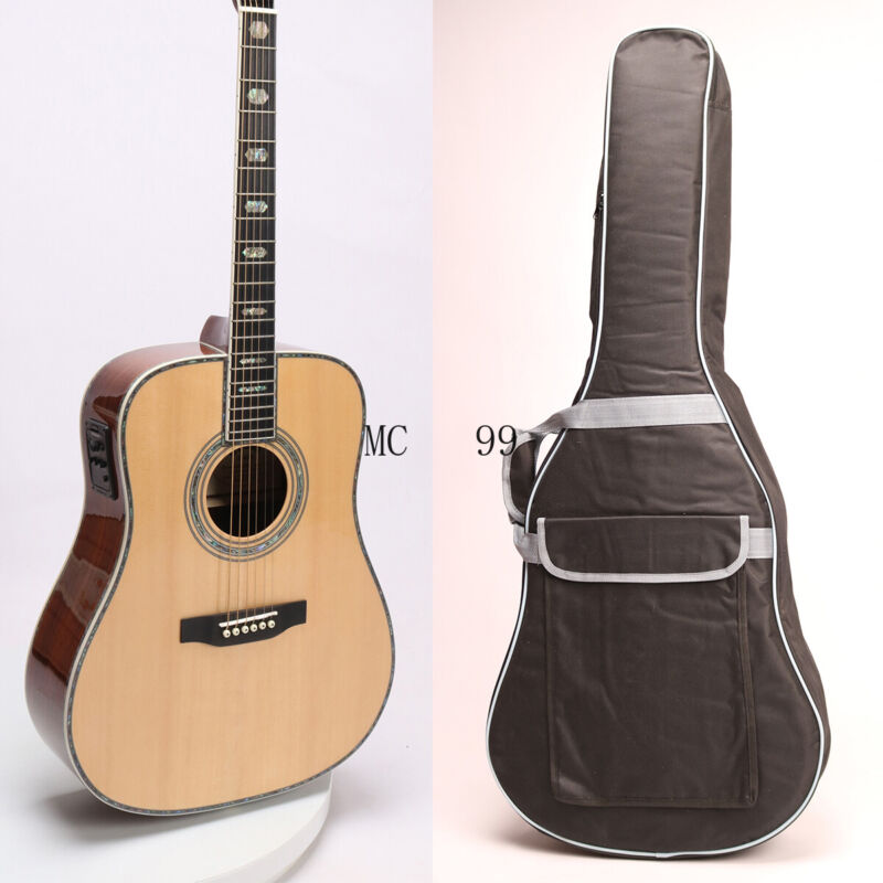 2020 D Style 45S Acoustic Guitar Solid Spruce Ebony Fingerboard Abalone Inlay