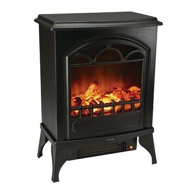 750/1500 Watt Wood Stove Style Electric Heater Charm Warm Winter Classic Decor Classic Stoves Fireplaces