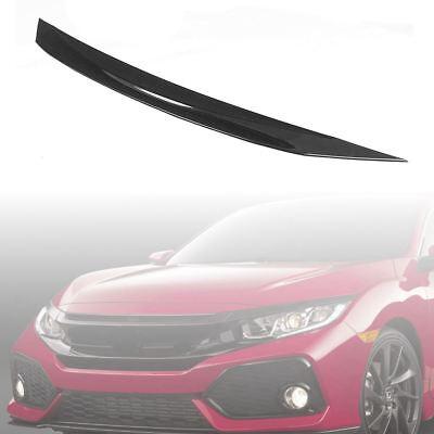 - Front Hood Bumper Upper Trim Nose Cover Black Fit For 2016-2018 Honda Civic Si