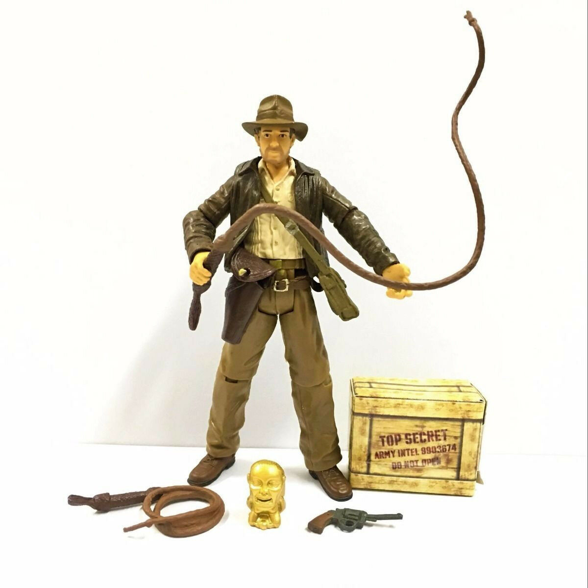 2pcs Children Kid Toy Indiana Jones Raiders of the Lost Ark 3.75/'/' Action Figure