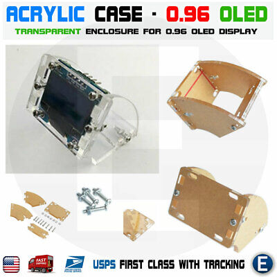 Transparent Shell Acrylic Case For 128x64 0.96 Inch Oled Lcd Led Display Module