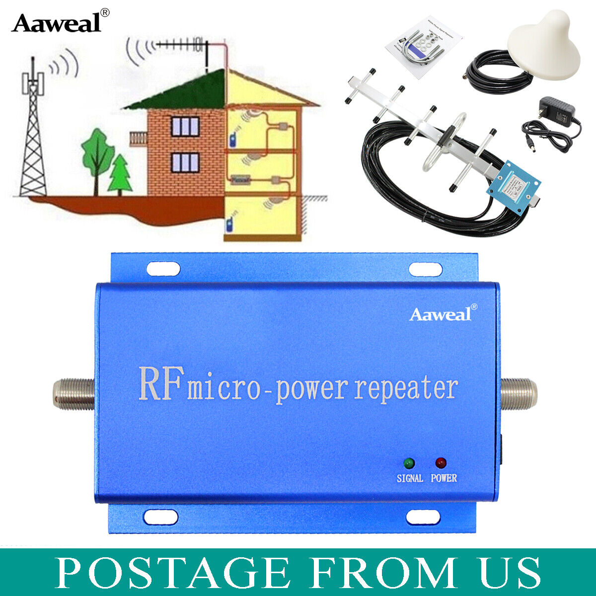 CDMA 850MHz Cell Phone Signal Booster Home Mobile Repeater A