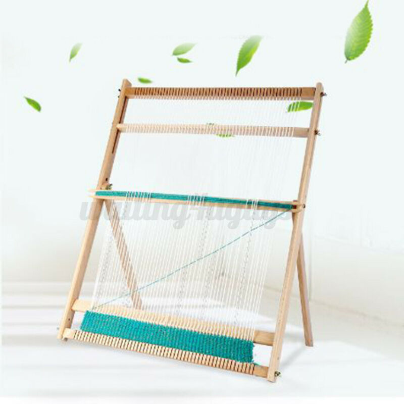Wooden Tapestry Hand Knitted Machine Stand DIY Woven Set Weaving Loom Kit USA