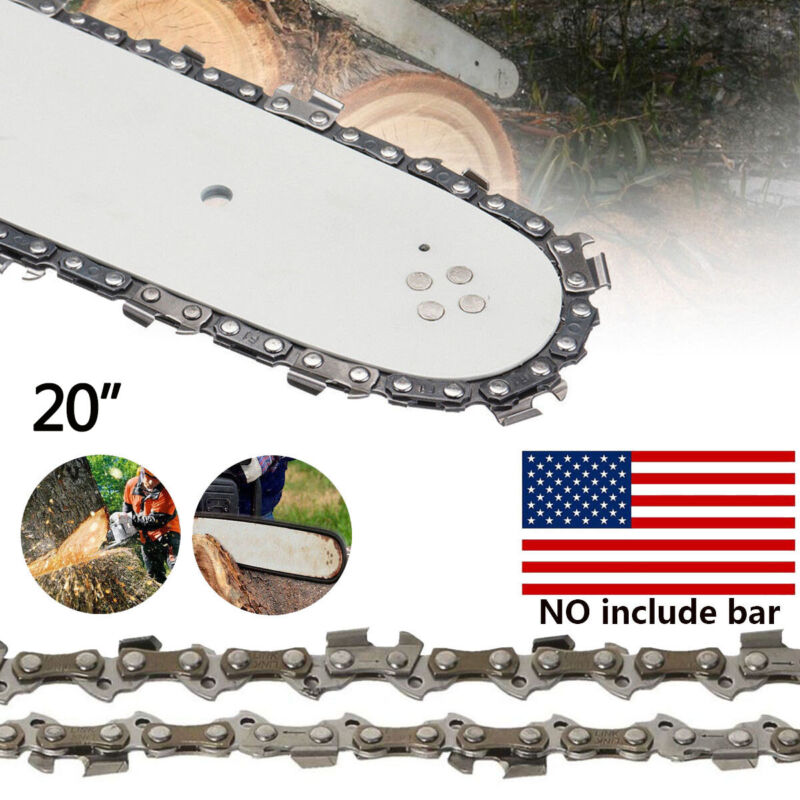 """20"""" Chainsaw Saw Chain Blade 3/8""""LP .050 Gauge 72DL Replacement(No Guide Bar)"""