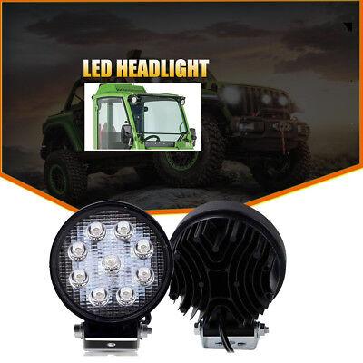 2x 4inch 27w Spot Round Led Work Light Fog Headlight Kubota 1100 Led Light Kit