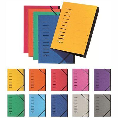 PAGNA Ordnungsmappe Fächermappe 40058 7-teilig 1-7 verschiedene Farben