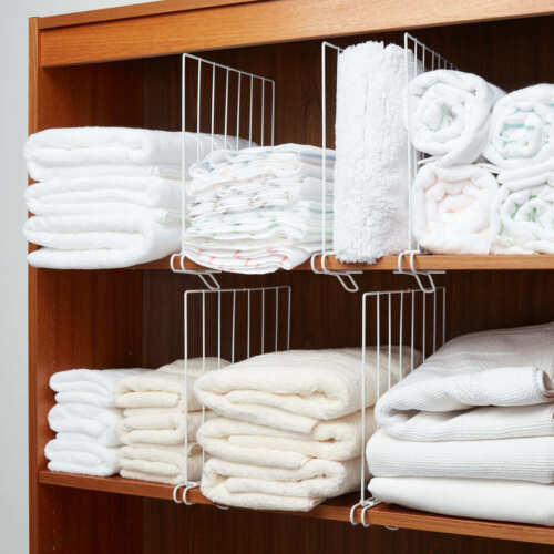 Wire Shelf Dividers for Bedroom Closets Kitchen Cabinets Boo