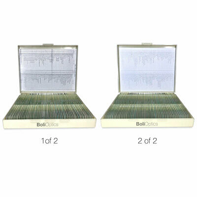 200 Prepared Microscope Slides Specimen Set Human Anatomy Plant Animal Cells
