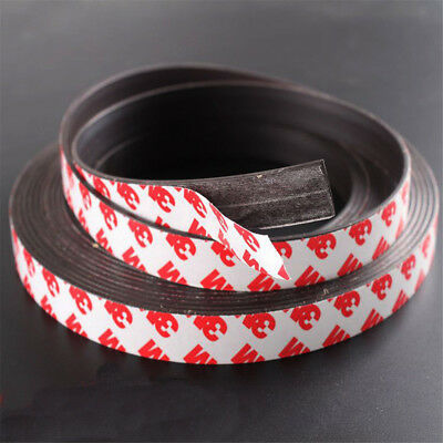 1m Long One Side Self Adhesive Magnetic Tape Magnet Strip Width 1-2mm