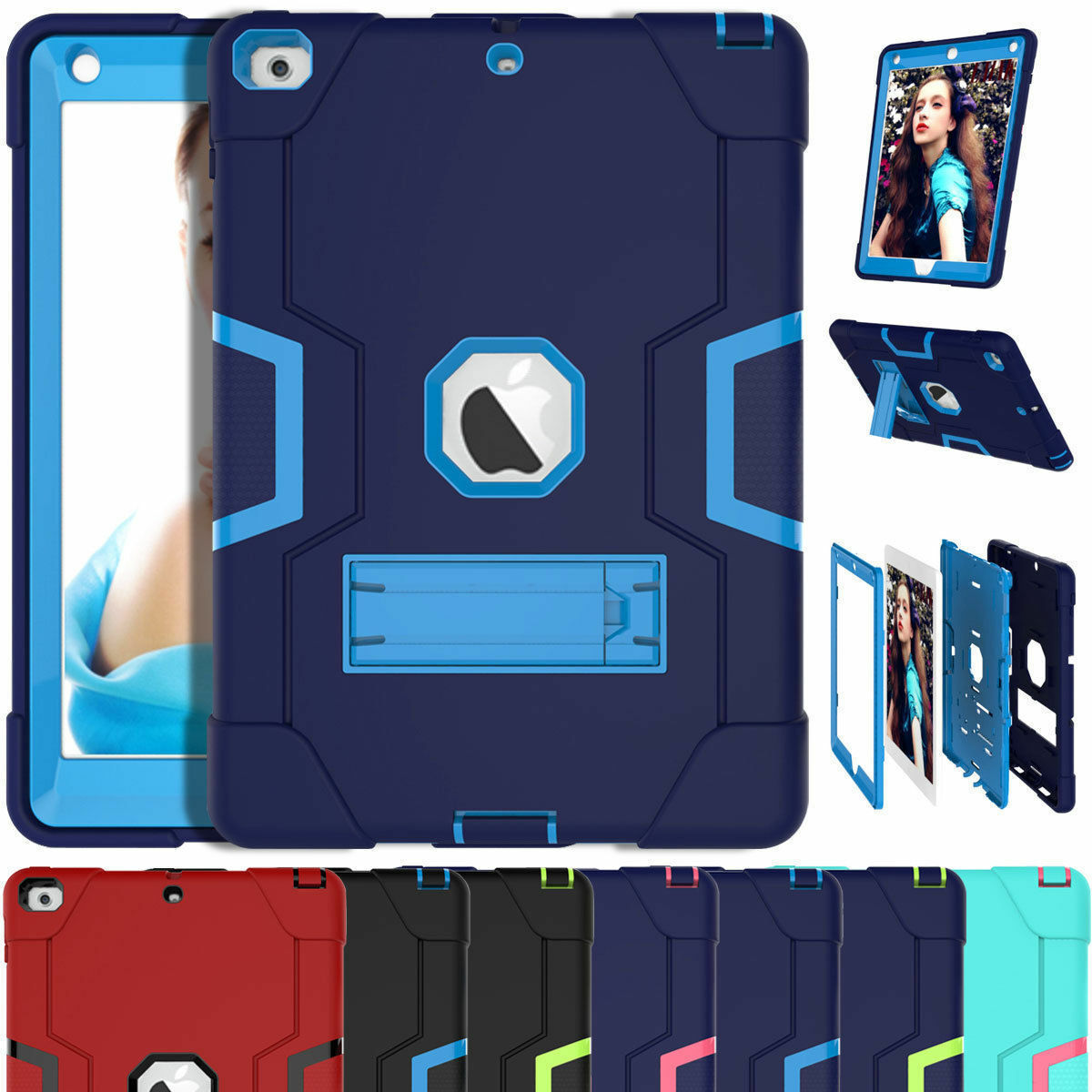 Rugged Defender Hard Case For iPad 7th Generation 10.2 6th 9