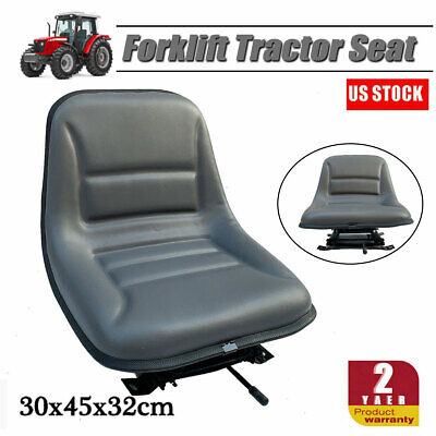 Adjustable Universal Forklift Seat Suspension W Sliding Track Fits Most Brands