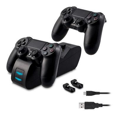 Dual Docking Ladestation für Playstation 4 Controller Dockingstation 2 Akkus