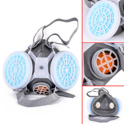 Respirator Dual Anti-Dust Gas Mask Filter Painting Industrial Chemical Safety for sale  Shipping to Canada
