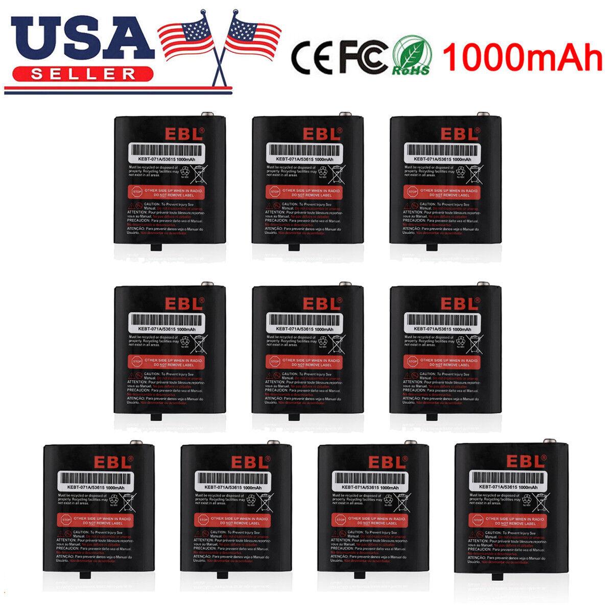 1000mAh 3.6V Ni-MH Batteries For Motorola Radio 53615 53617