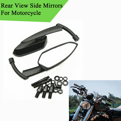 Motorcycle Rearview Side Mirrors with M8 M10 Adapter For Yamaha Suzuki Harley
