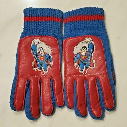 Vintage SUPERMAN Boys Gloves - Small Child - DC - 1978 - Mittens