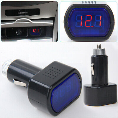 Led Car Auto Battery Electric Cigarette Lighter Voltmeter Voltage Meter Tester
