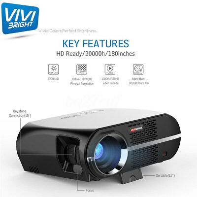 GP100 LCD Video Projector w/1080P Full-HD Level Quality 5000 Lumens 90-240V USB