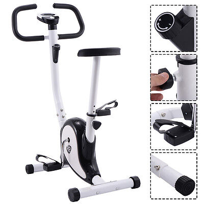 Exercise Bike Stationary Cycling Fitness Cardio Aerobic Equipment Gym Black