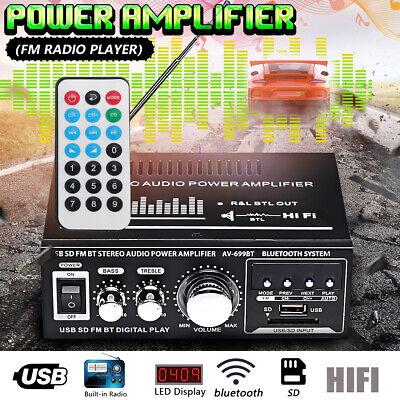 Black 12v 300w Remote - 360W 110V/12V HIFI Audio Stereo bluetooth FM 2CH AMP Car Home USB SD MP3 US