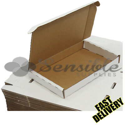 500 X C4 A4 MAXIMUM SIZE LARGE LETTER WHITE PIP POSTAL BOXES - 334X245X20mm